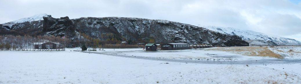 first snow in thorsmörk, iceland