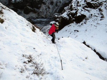 Hiking in the snow in Iceland is wonderful and interesting at the same time