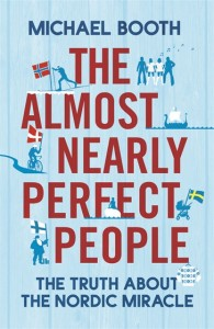 "The original book cover of Michael Booth ""The almost nearly perfect people"""