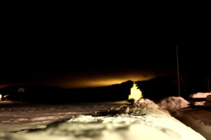mysterious glow over Tindfjallajökull
