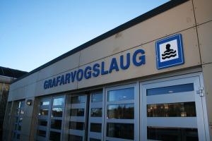swimming pool Grafarvogslaug in Reykjavík, Iceland