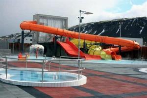 Lágafellslaug is a pool in the outskirts of Reykjavík