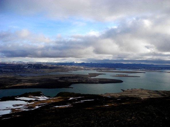 Reykjavík seen from the top of Mt. Esja