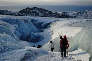 Go on a glacier hike in Iceland