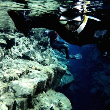 Snorkeling in Silfra, Iceland
