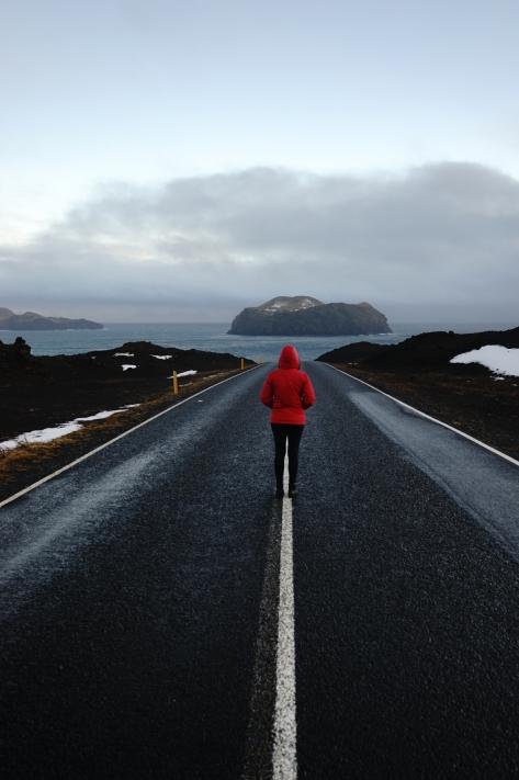 Winter Solitude at Urðavíti in Heimaey Island