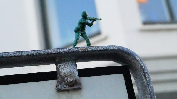 Toy Soldiers in Downtown Reykjavík