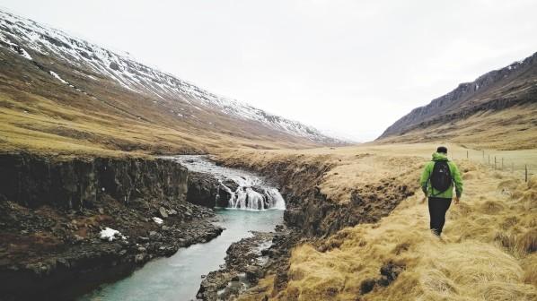"""Hiking Trail """"Trail of the waterfalls"""" in Fljótsdalur"""